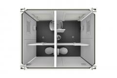 Вариант планировки туалетного модуля